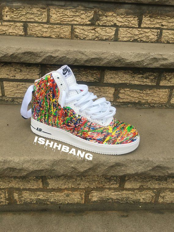 reputable site 90ef0 66c06 Custom Nike Air Force 1 High Splatter Confetti d AF1s