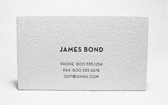 James Bond Business Card Minimal Business Card Business Card