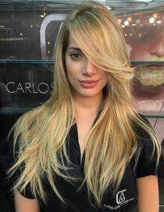 Long Side Bangs For Long Layered Hair Locks Pinterest Hair