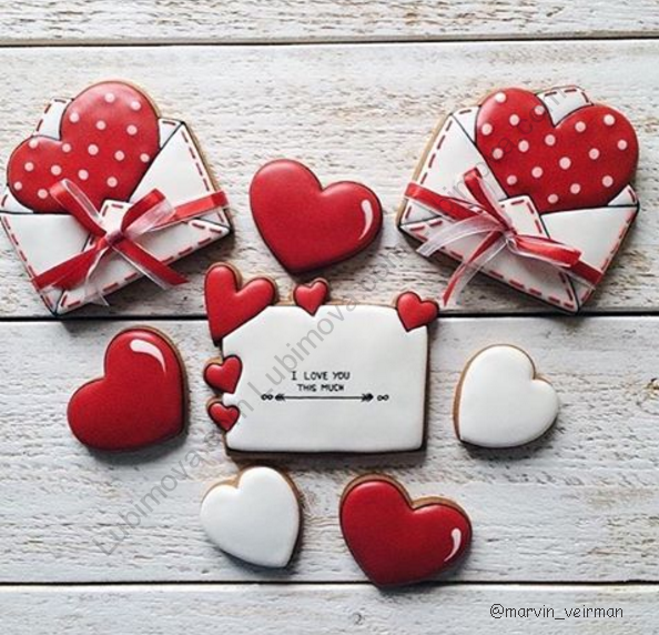 """Cookie cutter """"The envelope with the heart"""" в 2020 г"""