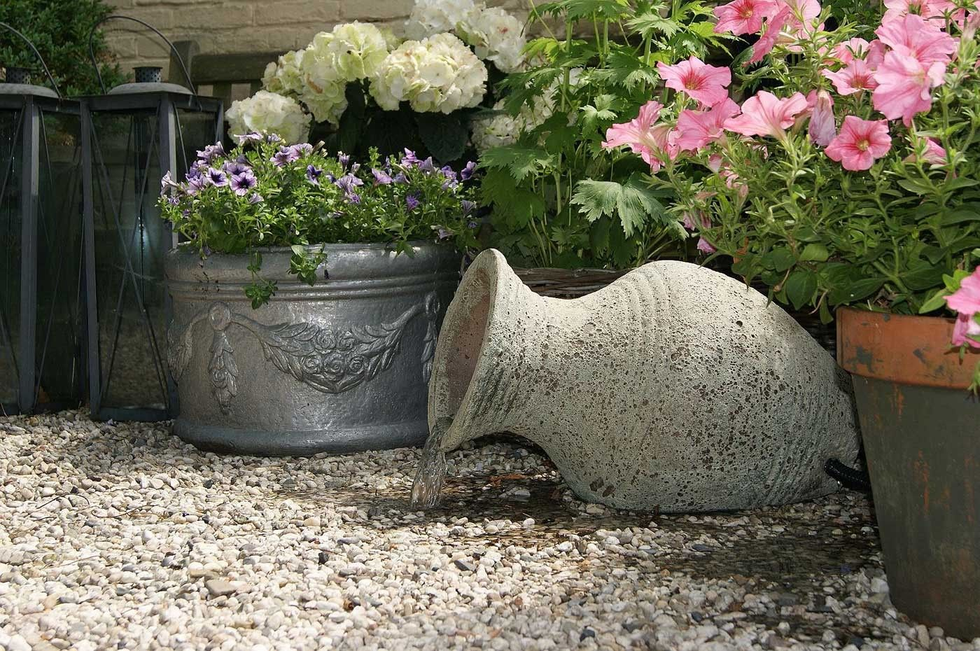Cascade De Jardin En Ceramique Larissa 30 X 53 X 34 Cm Fontaine