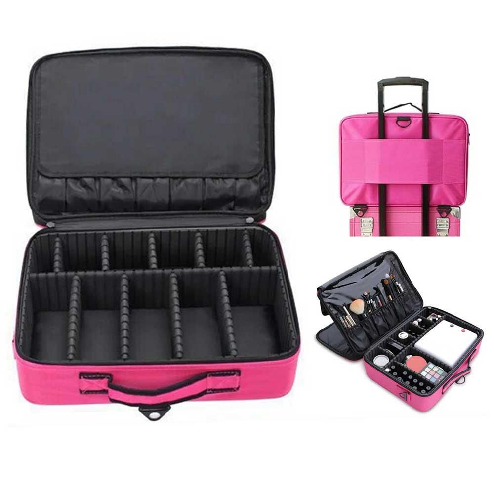 095281181194 Details about Cosmetic Makeup Case Travel Large Black Capacity ...