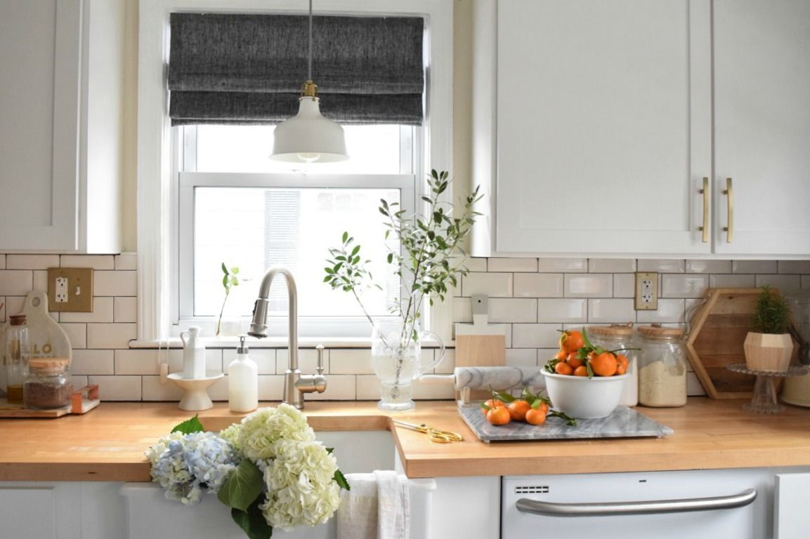 New Roman Shades in the Kitchen | Roman, Kitchens and Nest