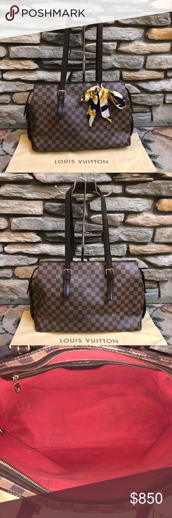 5675eb4c22296 Louis Vuitton Damier Ebene Chelsea Tote bag