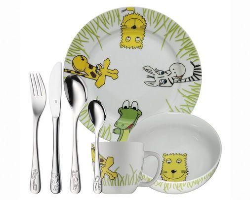 Børneservice og -bestik safari 7 dele - Magasin Onlineshop - Køb dine varer og gaver online - Magasin Onlineshop - Køb dine varer og gaver online