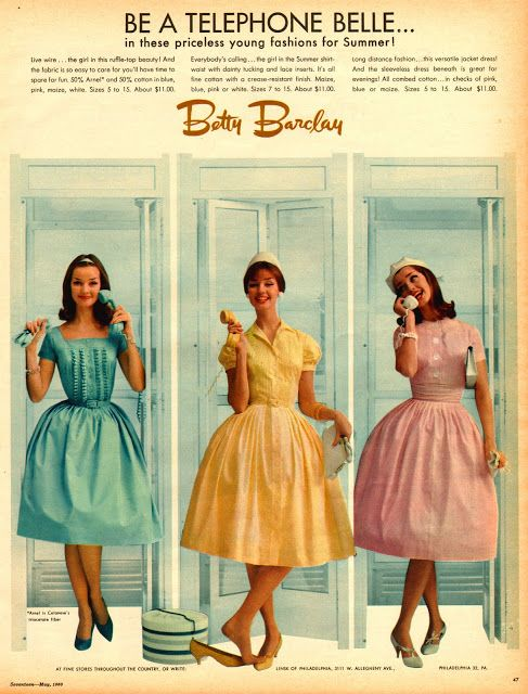 Betty Barclay ad, 1950's