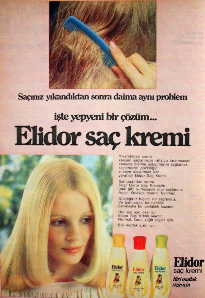 Oguz Topoglu Elidor Sac Kremi 1975 Nostaljik Eski Reklamlar