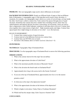 Contour Map Worksheet 1 6th 9th Grade Lesson Planet | Science ...