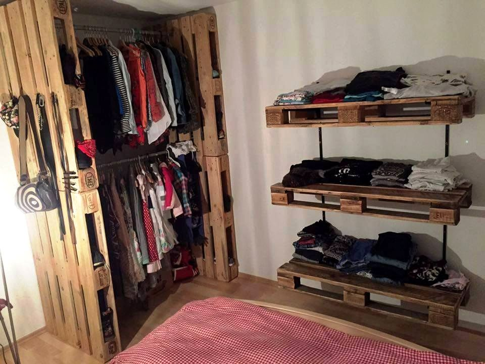 Pallet Corner Closet With Shelves   20 Pallet Ideas You Need To DIY Now |  101