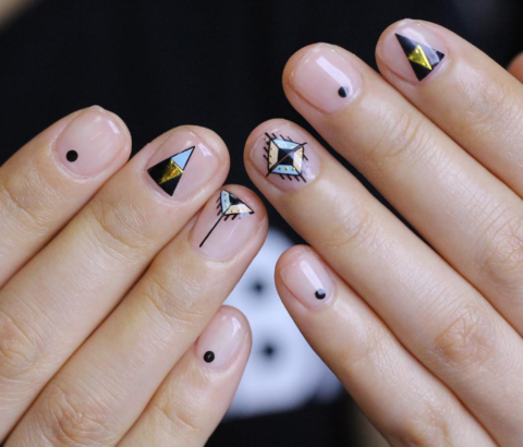 triangle nail latest korean