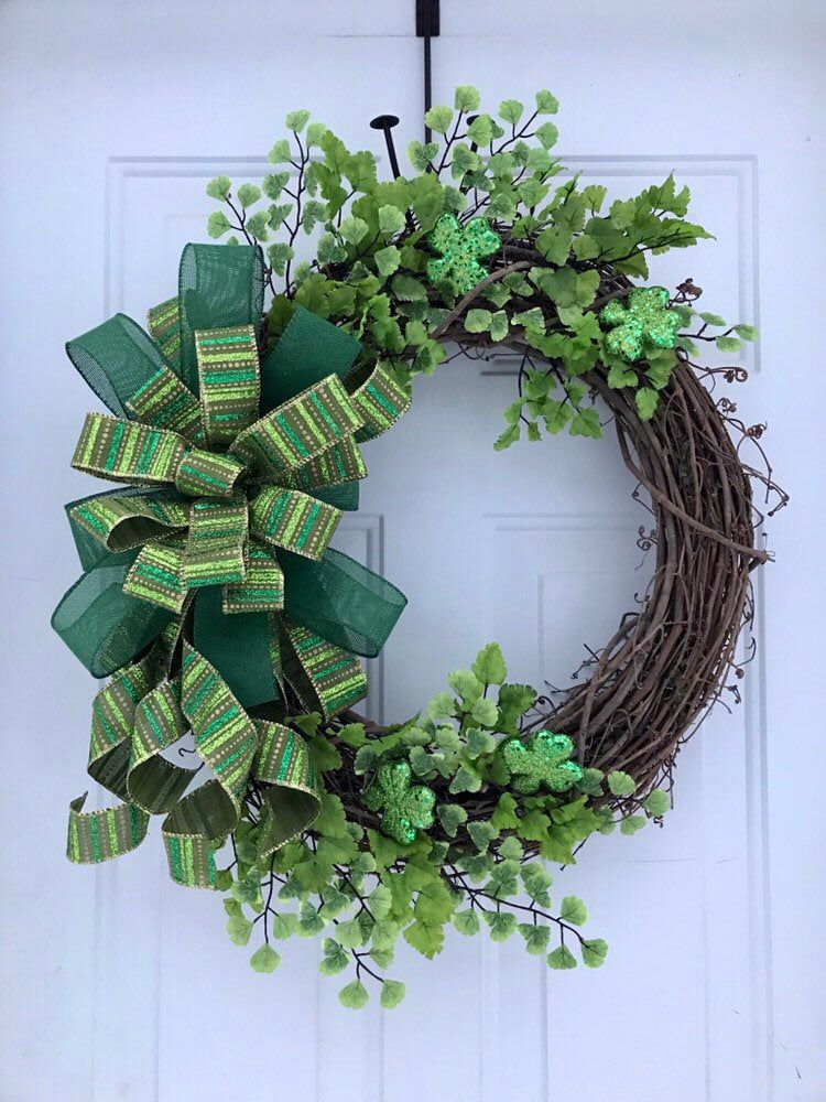 Photo of St. Patrick's day wreaths for the front door, St. Patrick & # 39; s Day wreath, winter wreaths for the front door