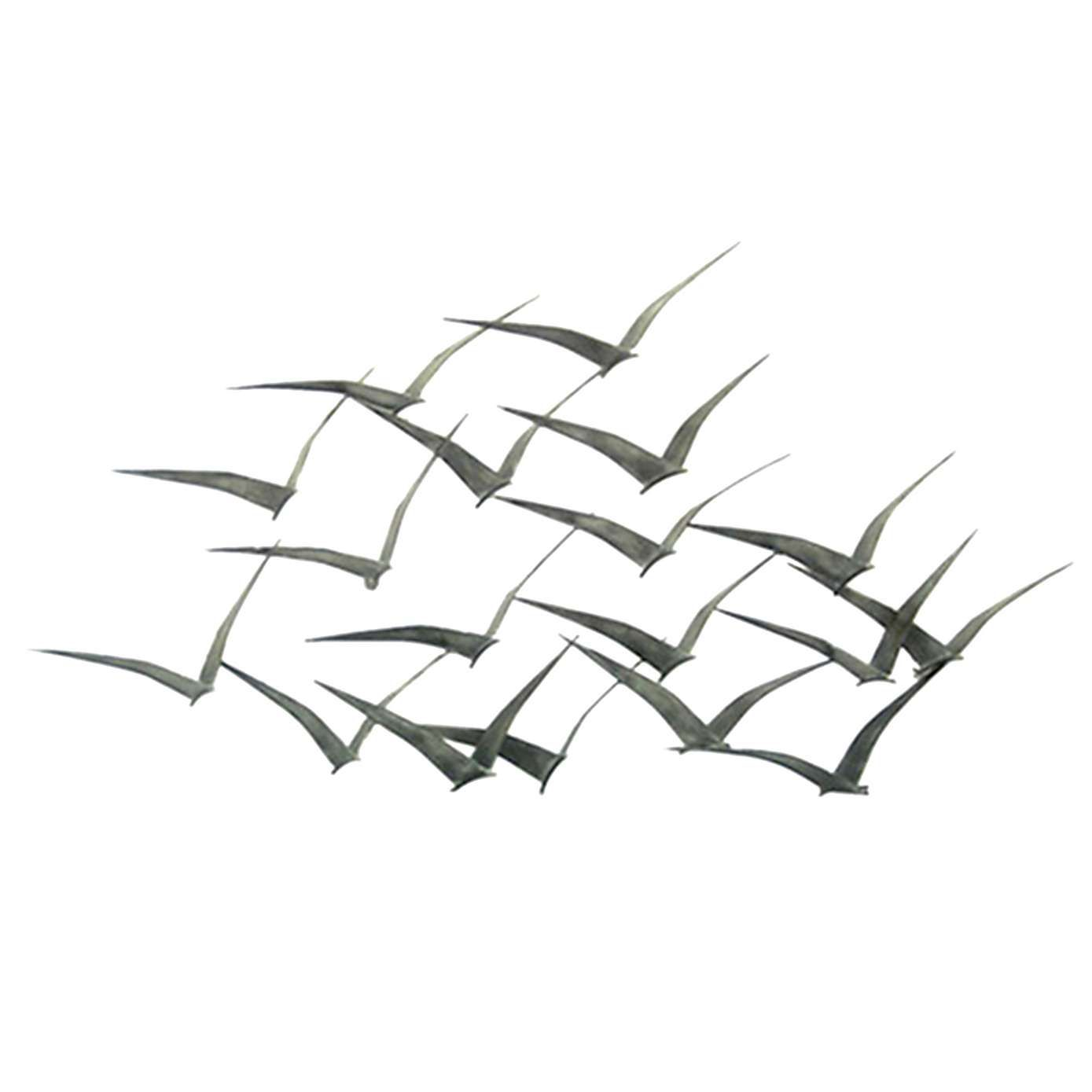 Flock of metal flying birds wall art dunelm