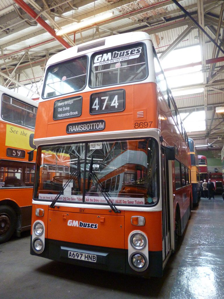 Preserved GM Buses 8697 (A697HNB) 15102016c Manchester
