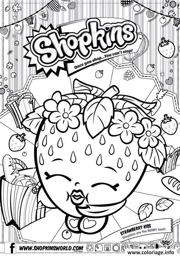 coloriage shopkins strawberry kiss imprimer et coloriage en ligne pour enfants dessine les coloriages shopkins strawberry kiss de dessin gratuit - Coloriage A Colorier En Ligne