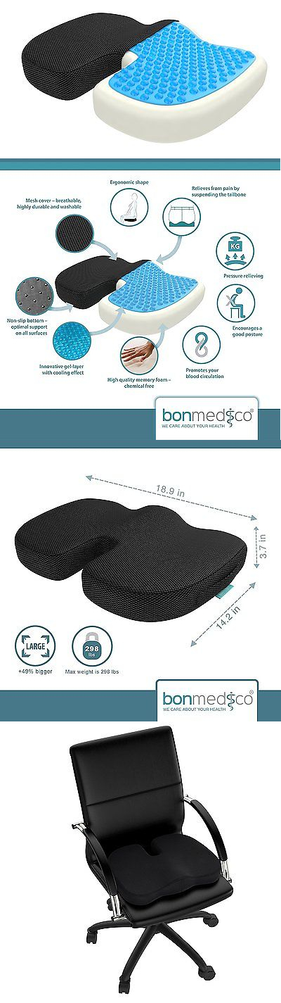 Massage Pillows and Bolsters: Bonmedico® Orthopedic Xl Seat Cushion, Pain Reducing Pillow, Recommended Above A BUY IT NOW ONLY: $55.97