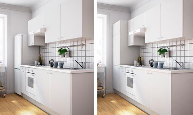 lodówka zabudowana czy wolnostojąca  Szukaj w Google   -> Kuchnia Ikea Wycena