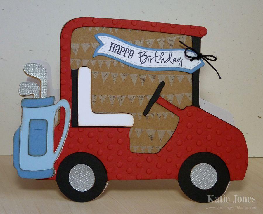 Golf cart birthday card dad birthday card cricut cards