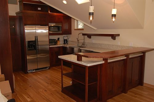 cherry wood kitchen cabinets cherry wood kitchen with bar table - Kitchen Bar Table