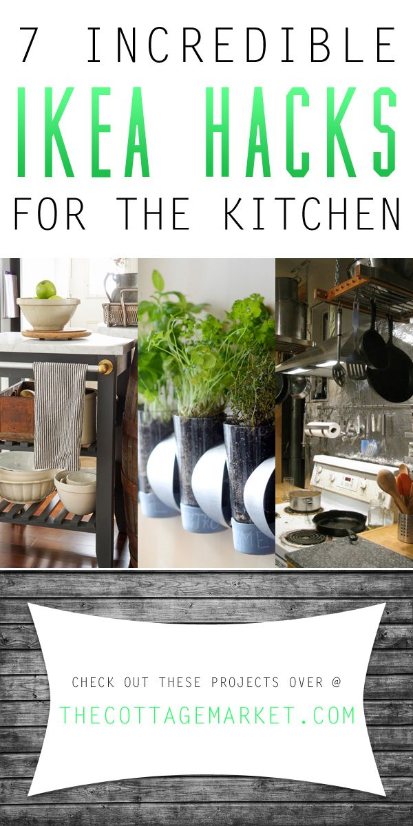 7 incredible ikea hacks for the kitchen diy ideas pinterest k chenkr uter k che und rund. Black Bedroom Furniture Sets. Home Design Ideas