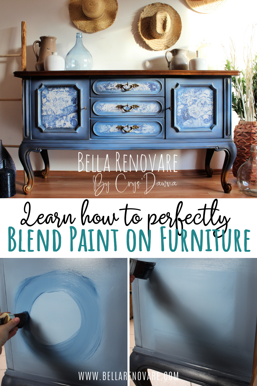 How To Perfect Blending Paint On Furniture