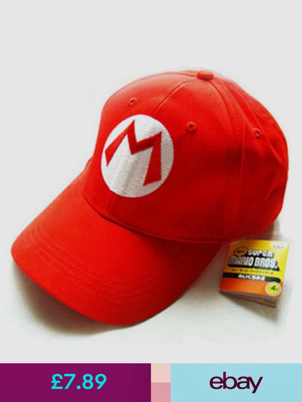 Super Mario Bros M Letter Cap Sport Baseball Hat Summer For Kids Adjustable Red Super Mario Hat Baseball Hats Mario Bros