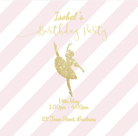FREE Online Birthday Invitations For A Ballerina Princess