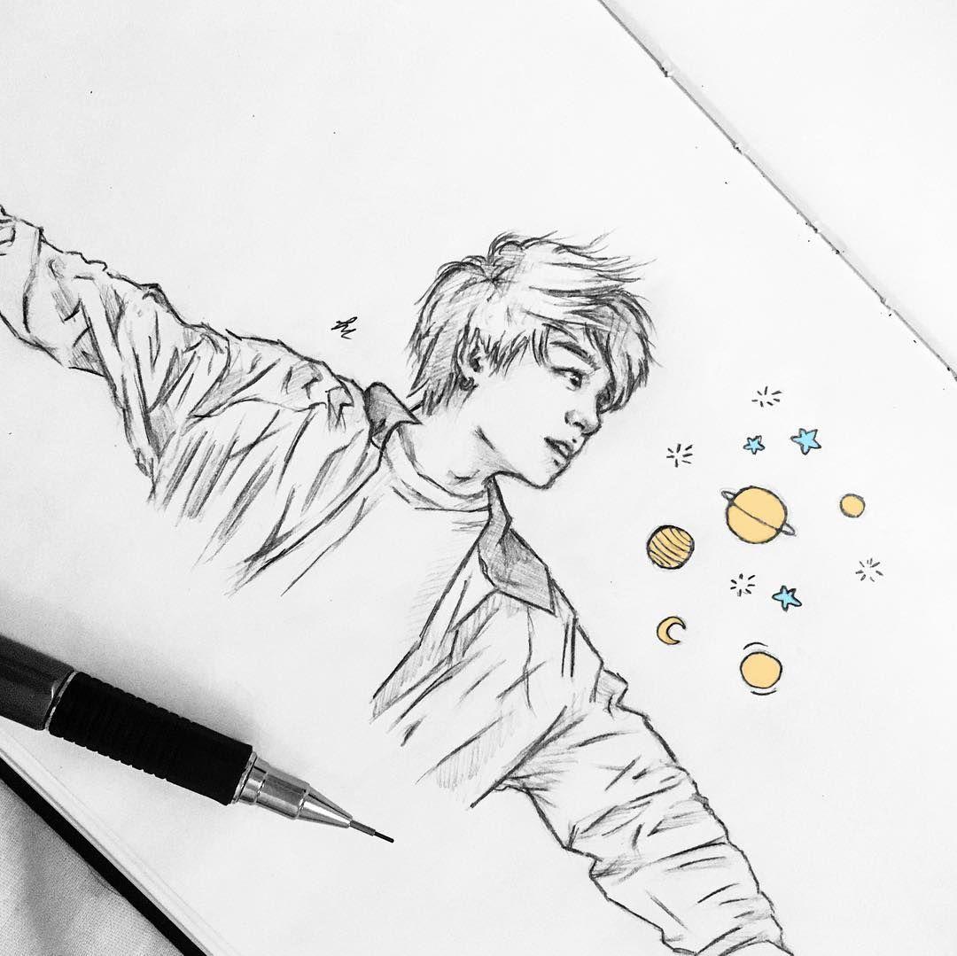"""Photo of ˚✧₊⁎ Tate ⁺˳✧༚ on Instagram: """"✨ Little Euphoria ✨ . . . . . #jungkook #Jungkookfanart #bts #btsfanart #fanart #art #btsart #sketch #drawing #btsartmy #parkjimin…"""""""