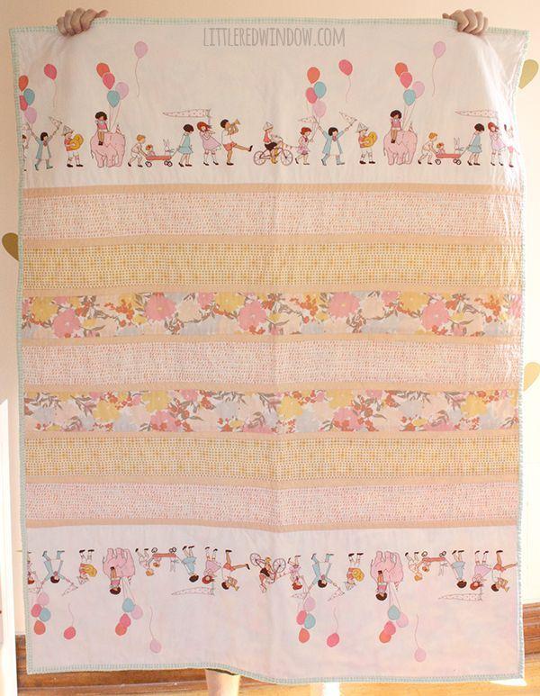 Simple Strip Crib Quilt | Crazy for DIY | Pinterest