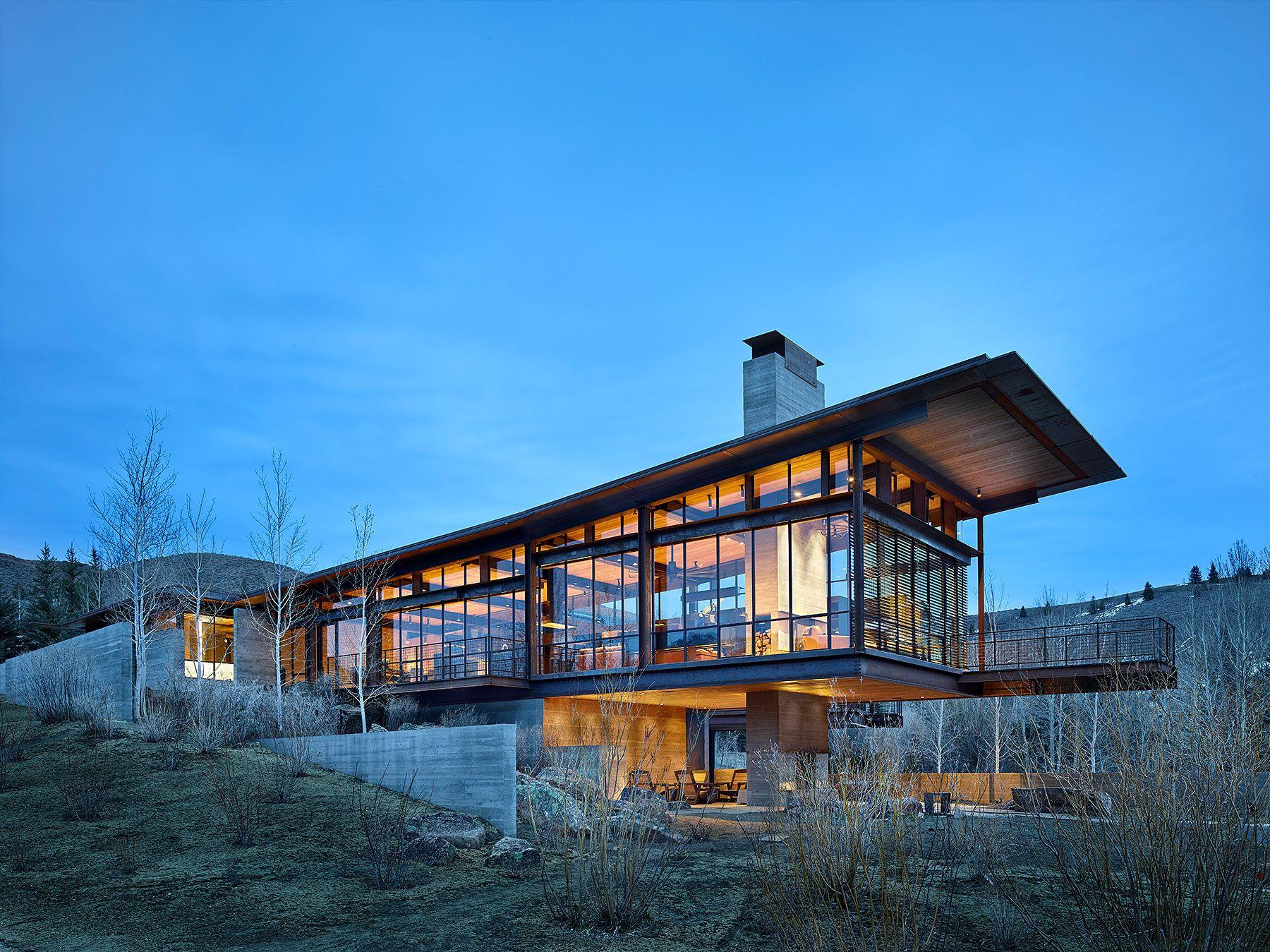 Exceptional Residencia En Idaho Por Olson Kundig   Tom Kundig | Galería De Fotos 11 De  12. Zeitgenössische HäuserModerne HäuserErstaunliche HäuserArchitekturHaus  ...