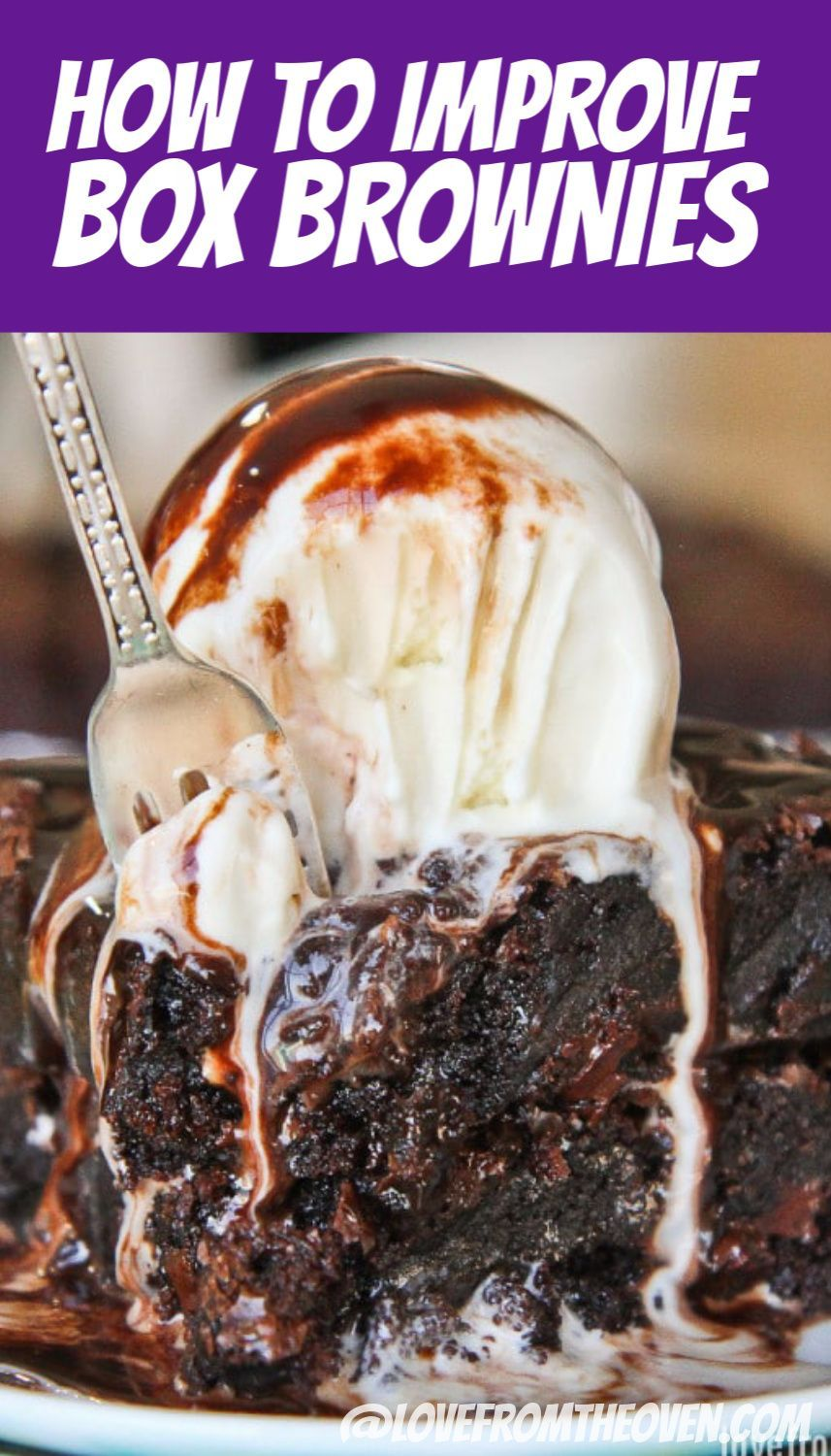Take your box mix brownies to a whole other level with these super simple ticks and tricks. Serious