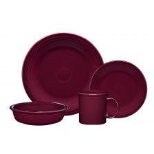 Claret Red Dinnerware Set with 16 Pieces - 0852341 Fiestaware