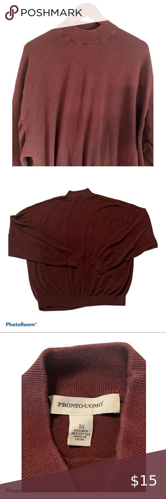 Vintage silk cotton maroon sweater