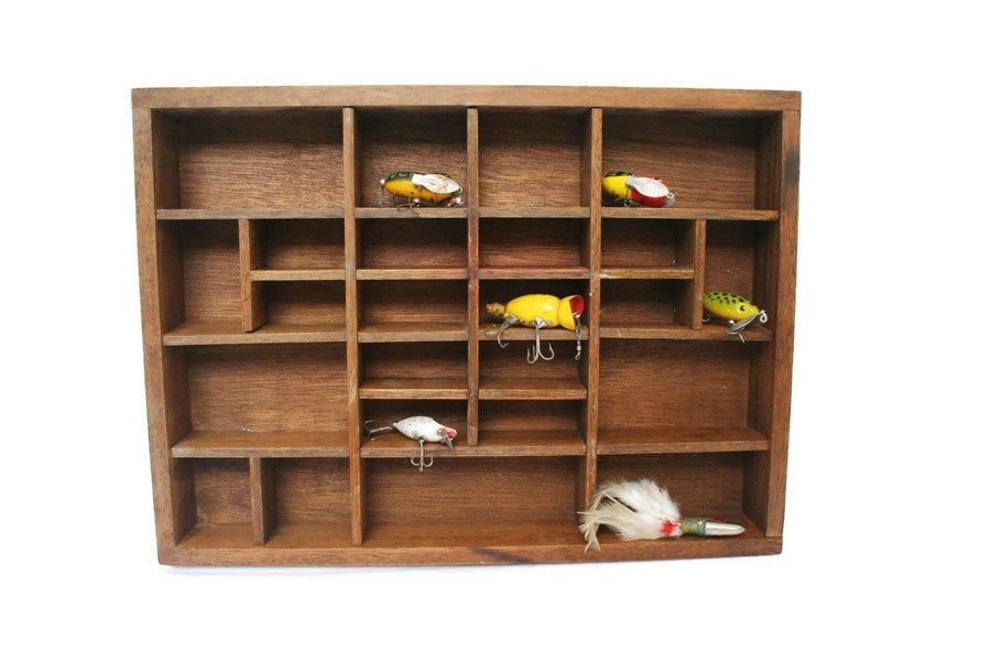 Vintage Wood Display Box Small Printers Tray Style Display Shelf Display Collectibles Bead Or Button Sor Wood Display Boxes Wood Display Vintage Wood
