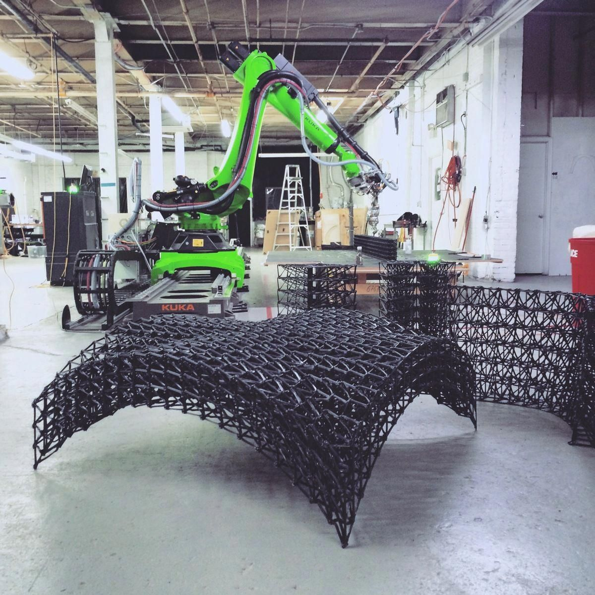 KUKA Robot Used For Large-scale 3D Printing. Image
