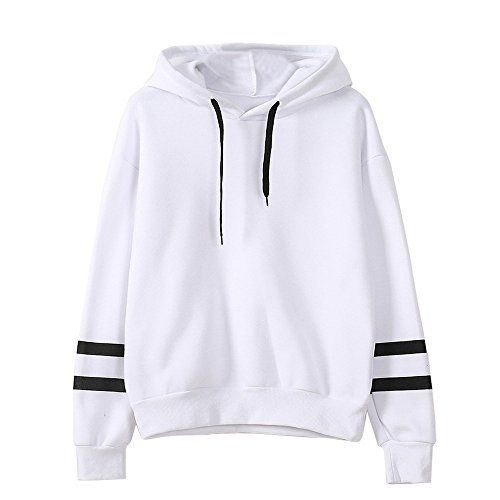 Reaso Sweat Shirt Hooded Sports Femme Automne Tops à Manches Longues Blouse  Col Rond Casual Pull 96bd2a502b28