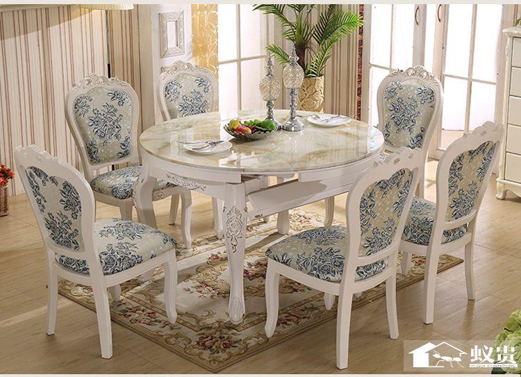 Di lusso tavolo e sedia in legno sala da pranzo allungabile con ...