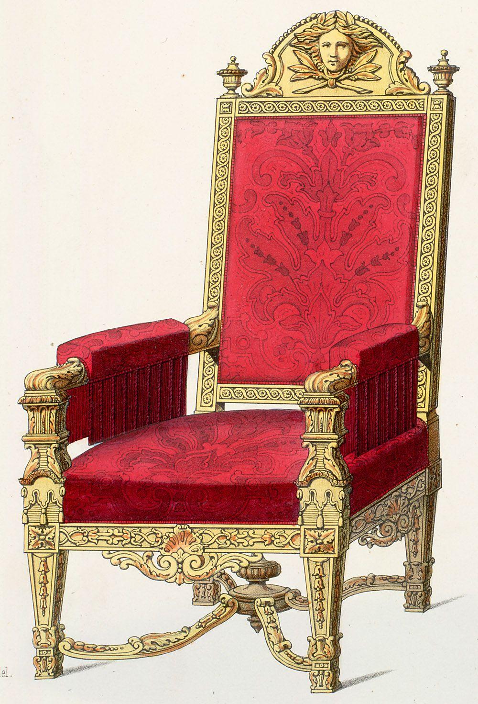armchairs style louis xiv asseyons nous un moment pinterest garde meuble style ancien. Black Bedroom Furniture Sets. Home Design Ideas