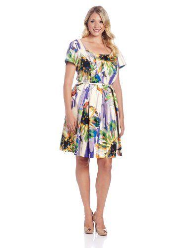London Times Women's Plus-Size Printed Belted Short Sleeve Flare Dress, Multi, 14W London Times,http://www.amazon.com/dp/B00DEBNX0Q/ref=cm_sw_r_pi_dp_Gk-Lsb0PVGDP842C
