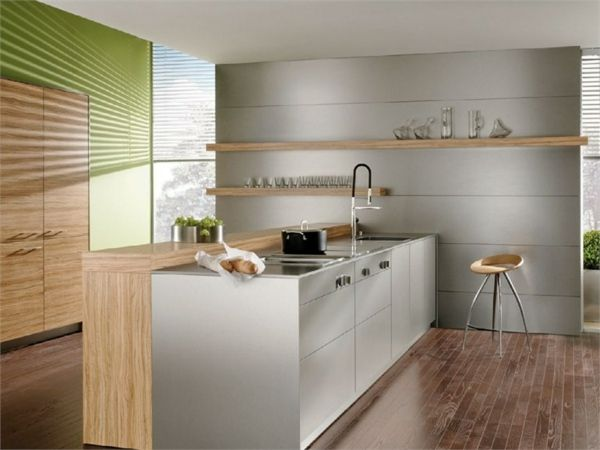 multifunktionale Küche Almilmö Design Ideen-weiße Schränke | Küche ... | {Küchen mit bartheke 9}