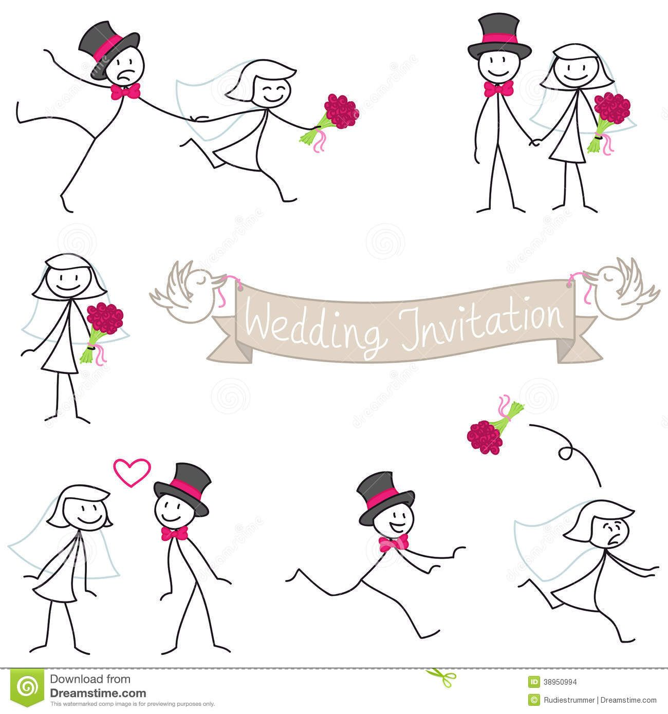 Stick Figure Wedding - Google Search