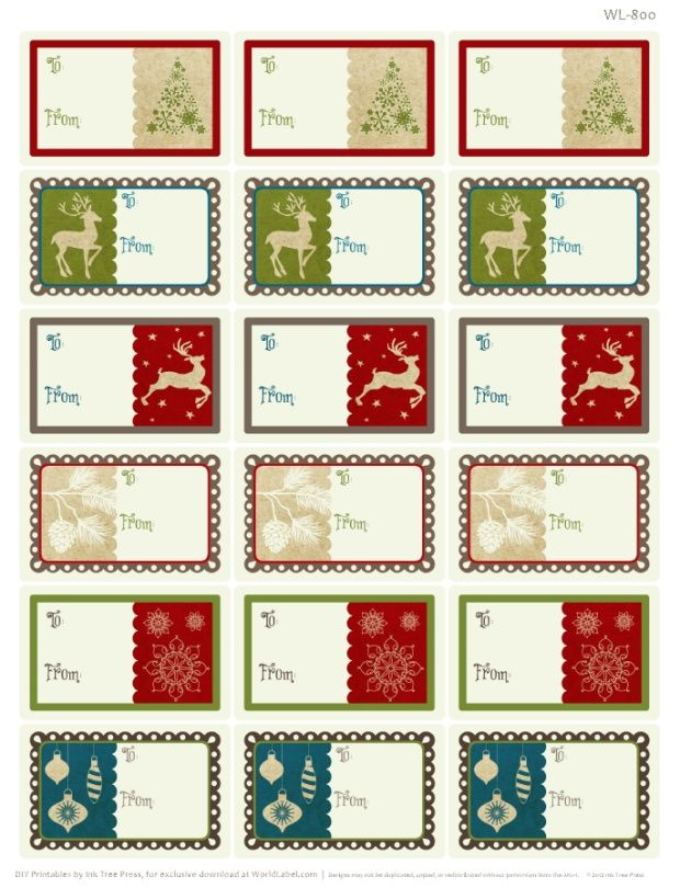 It is a photo of Old Fashioned Printable Christmas Labels Pdf
