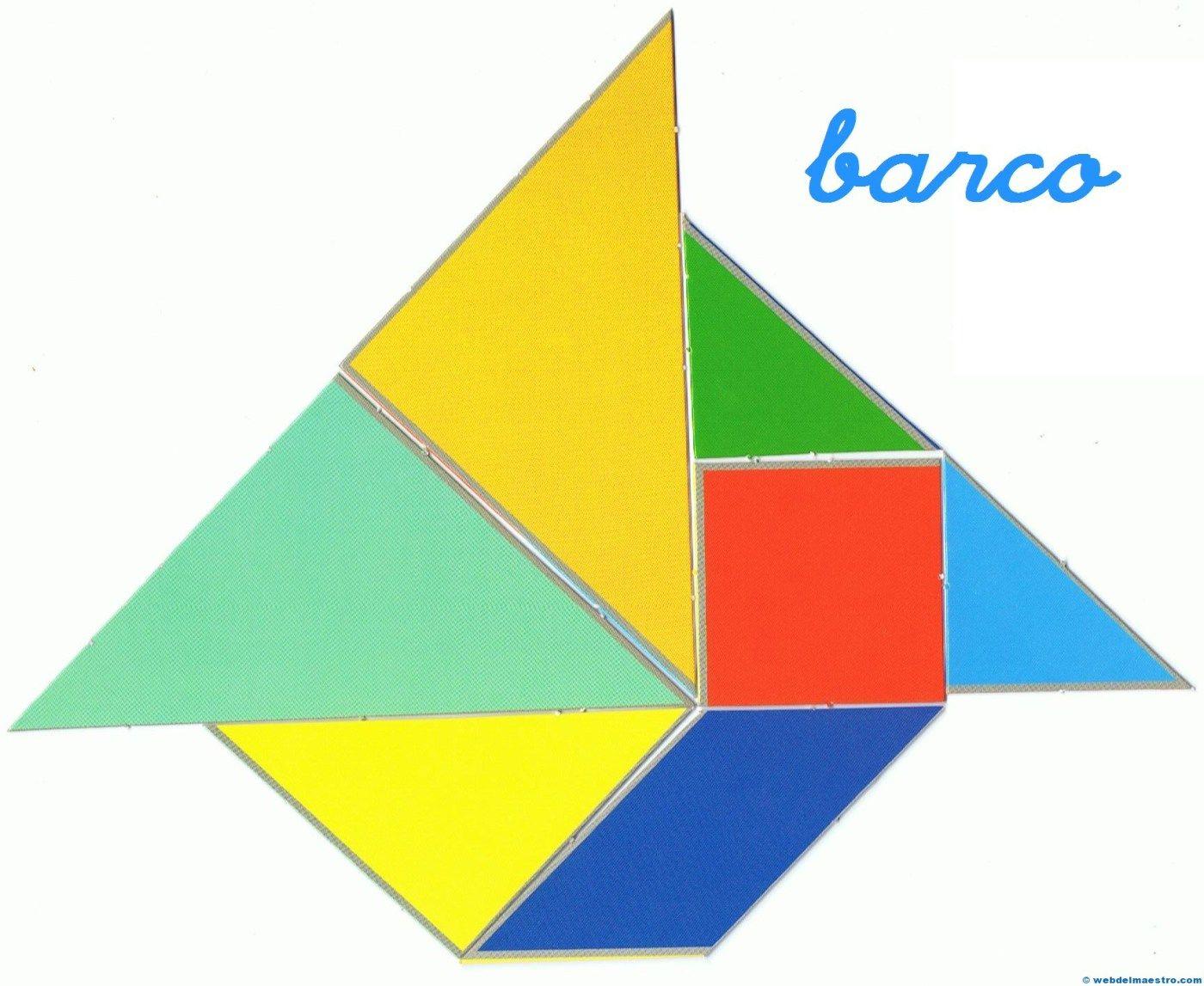 figuras faciles con tangram