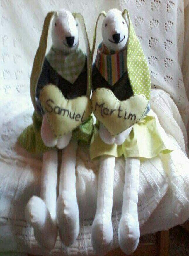 Coelhos gêmeos