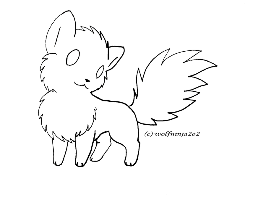 Chibi Wolf Lineart Now For Free Use Chibi Cat Drawing Wolf