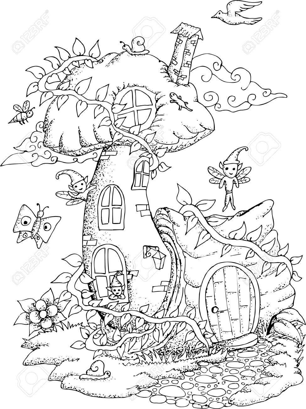 Image result for fairy house drawing