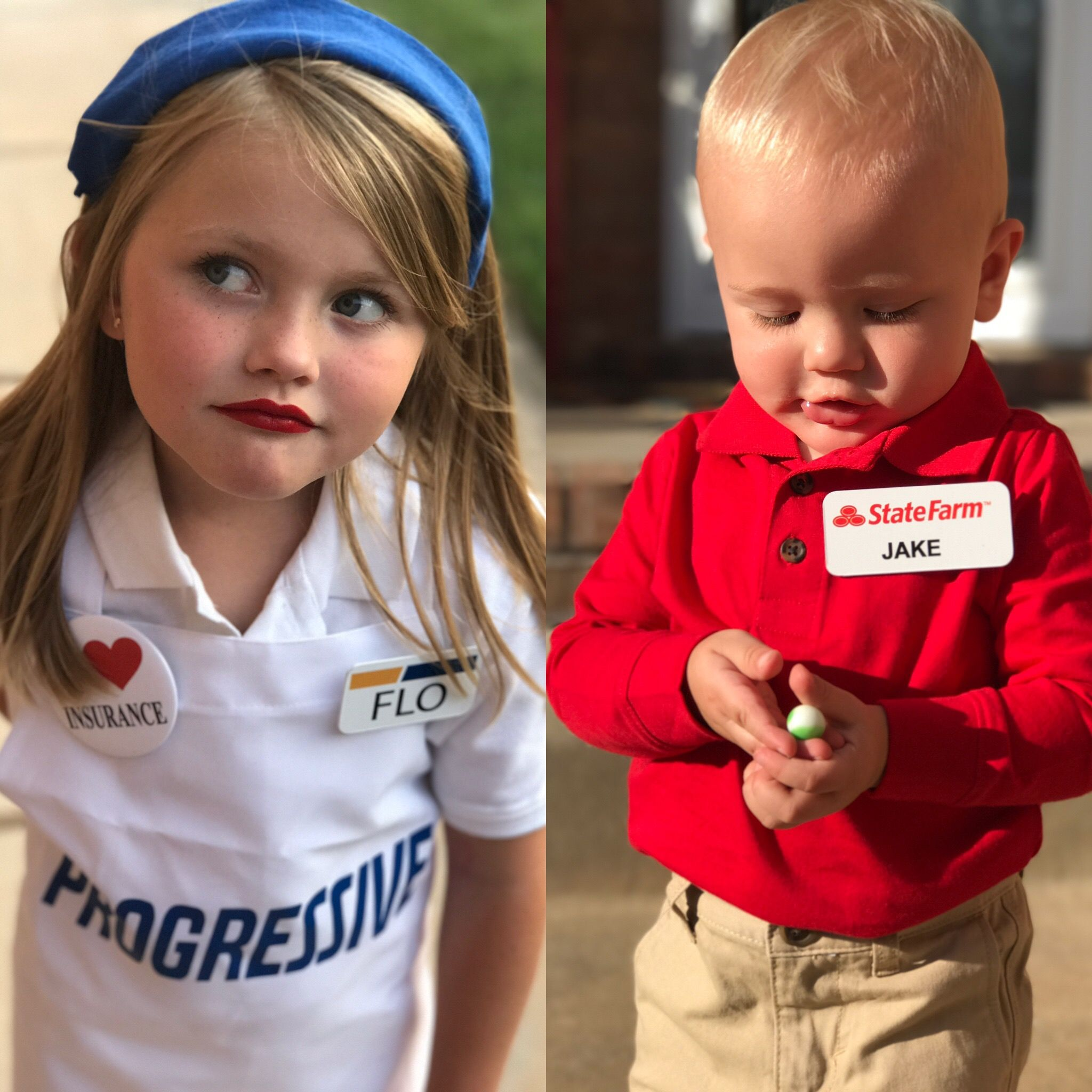 Flo from Progressive Jake from StateFarm Halloween