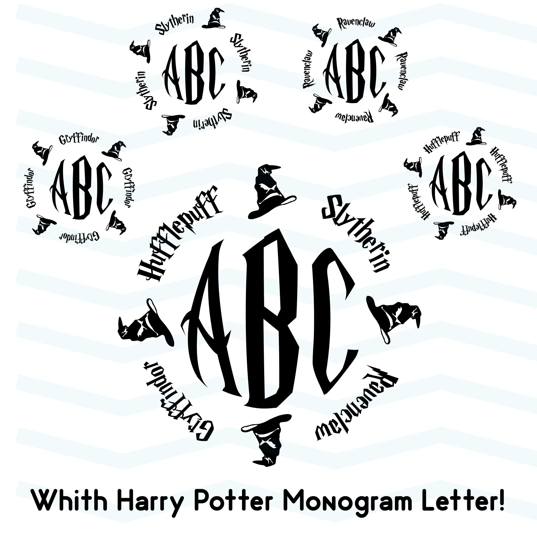 Harry Potter Svg Circle Monogram Svg Sorting Hat Svg
