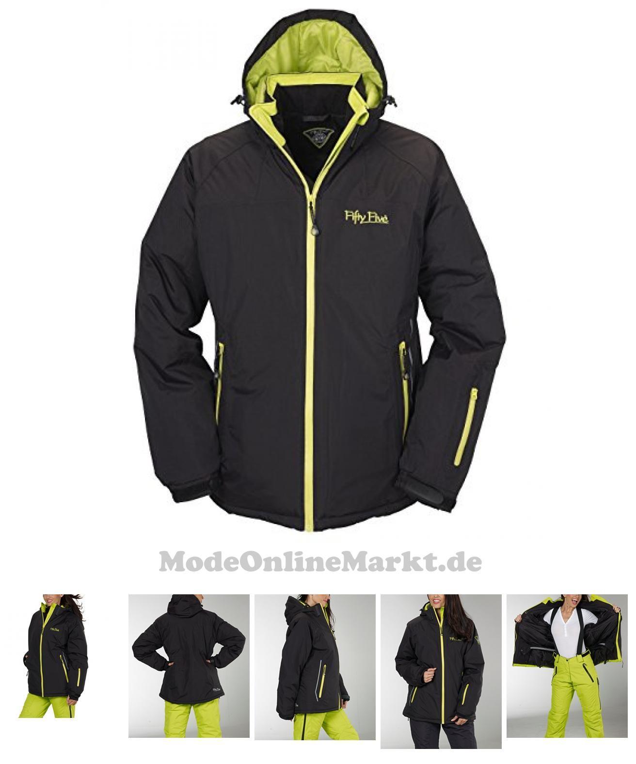 4250205444826 | #Ski-Jacke #Snowboard-Jacken #für #Damen #von #Fifty #Five  #8211; #Glory #black/lime #34  #8211; #winddicht und #wasserdicht mit #FIVE-TEX #Membrane #für #Outdoor-Bekleidung