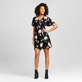 cea688294916e05ed4310dc03f11eb48 women's floral wrap dress black xhilaration (juniors') target,Target Womens Xhilaration Clothing