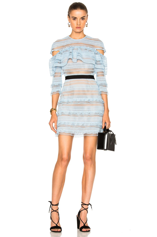 1a0dbfcceaca3 SELF-PORTRAIT Stripe Grid Mini Dress. #self-portrait #cloth #   Self ...